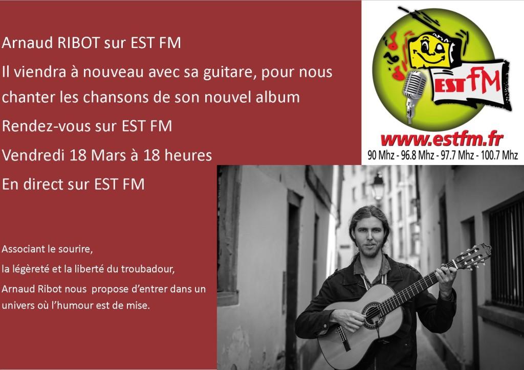 Arnaud RIBOT SUR EST FM